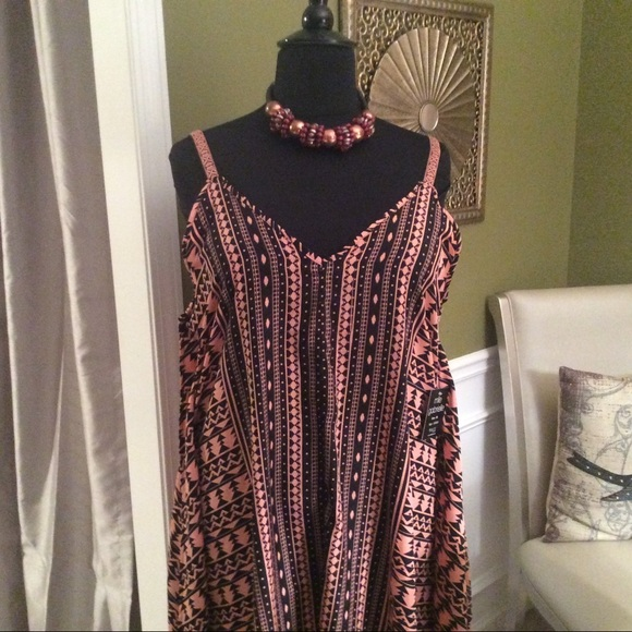 091cd18c195 Plus Size Tribal SunDress by mlle Gabrielle